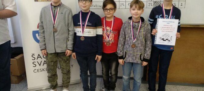 Naši žáci získali 3.místo vkrajském kole vpřeboru všachu